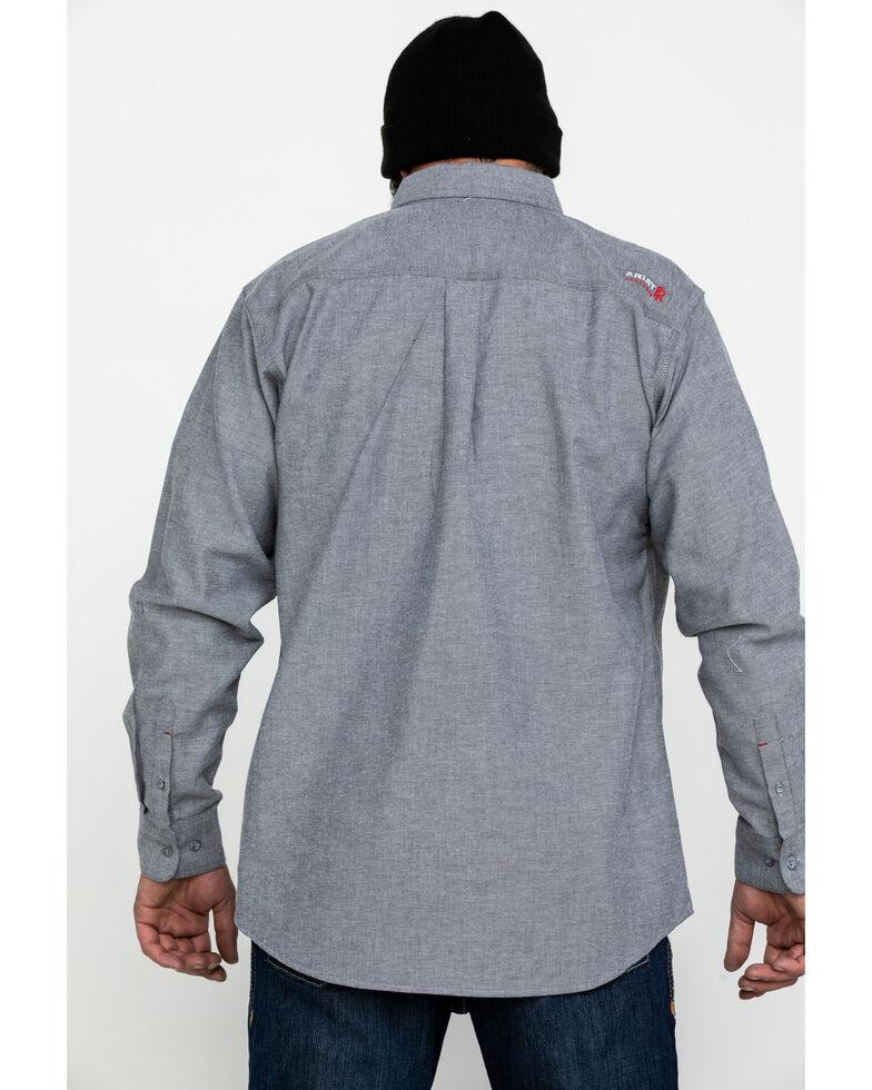 Ariat Men's Dark Navy FR Solid Durastretch Long Sleeve Work Shirt - Tall , Navy, hi-res