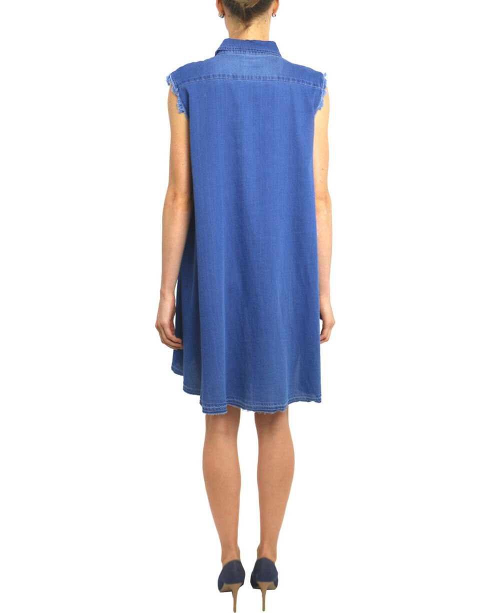 Tractr Blu Women's Monday Blu Shirt Dress , Indigo, hi-res