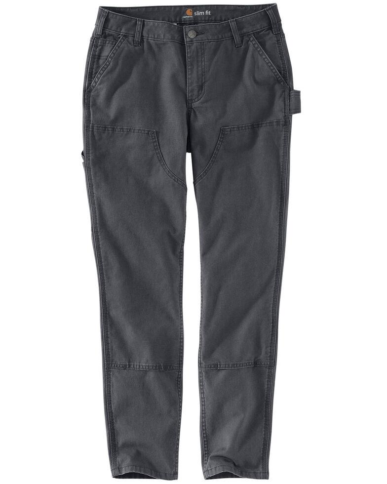 07c11c951 Zoomed Image Carhartt Women's Slim-Fit Crawford Double-Front Pants , Dark  Grey, hi-