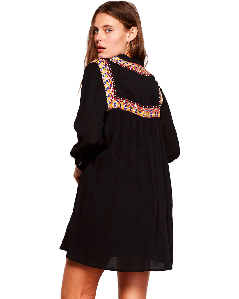 Jack Women's Black Saenz Embroidered Dress , Black, hi-res