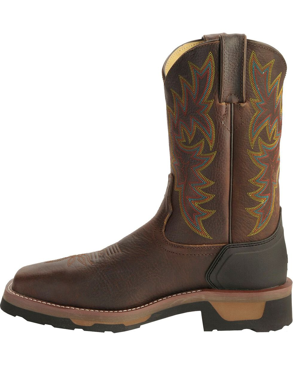 Tony Lama Men's TLX Compostie Toe Square Toe Western Work Boots, Bark, hi-res