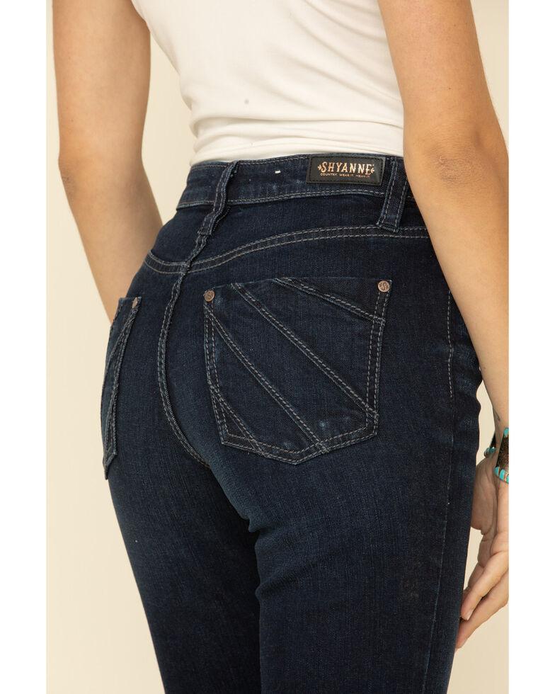Shyanne Women's Seamed Pocket Bootcut Jeans, Dark Blue, hi-res