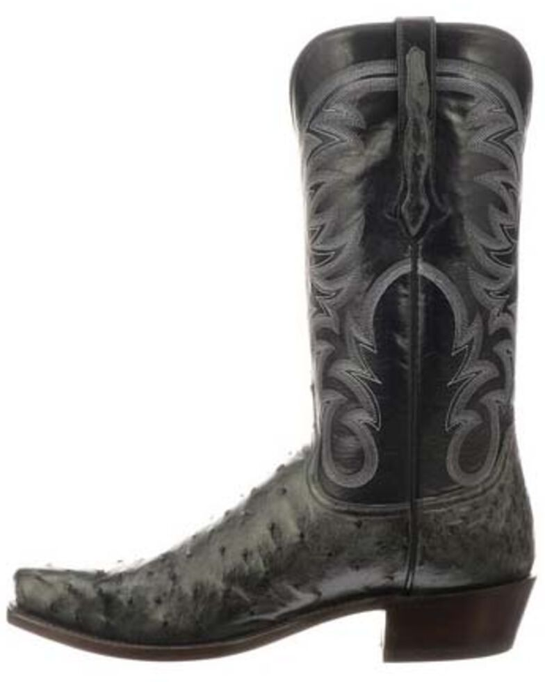 Lucchese Men S Hugo Full Quill Ostrich Western Boots