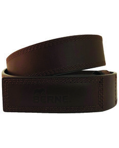 Berne Men's 38MM Leather Mechanical Belt , Brown, hi-res