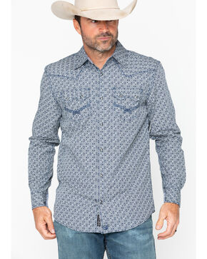 Moonshine Spirit Men's Melrose Long Sleeve Shirt, Blue, hi-res