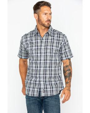 Wrangler Men's Retro Plaid Short Sleeve Shirt , Black, hi-res
