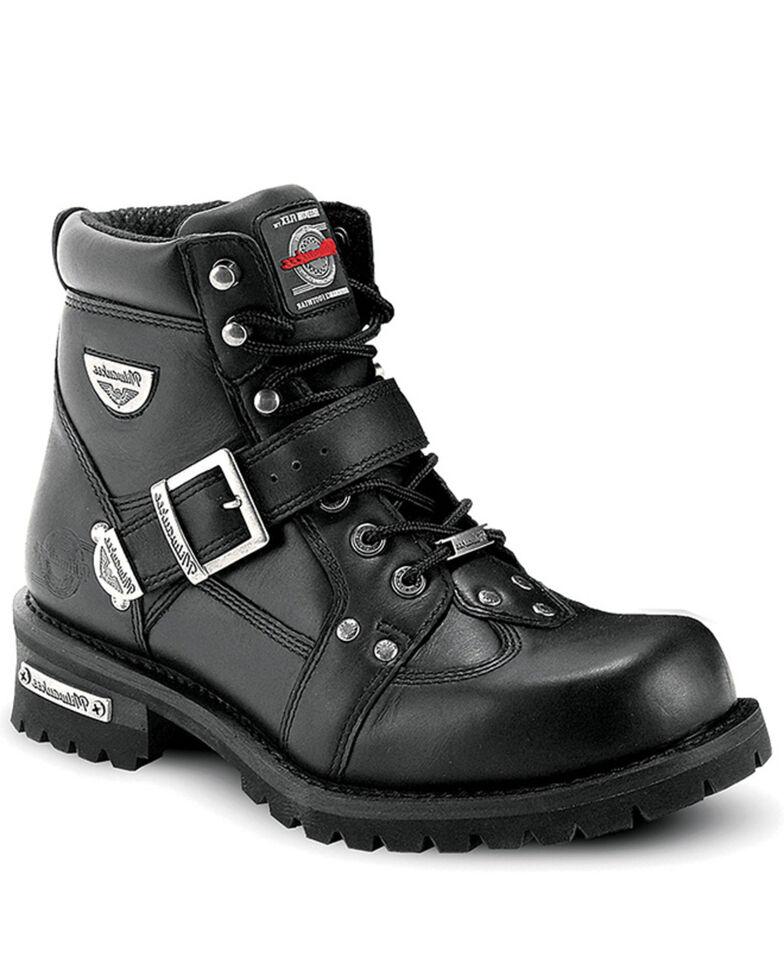 Milwaukee Motorcycle Clothing Co. Men's Road Captian Moto Boots - Round Toe, Black, hi-res