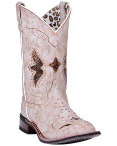 Laredo Women's Spellbound Western Boots - Wide Square Toe, Tan, hi-res