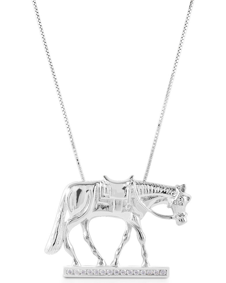 Kelly Herd Women's Western Horse Necklace , Silver, hi-res