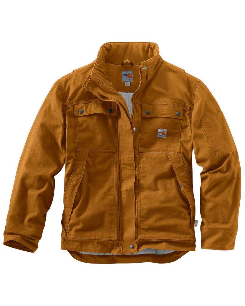 Carhartt Men's Flame-Resistant Full Swing Quick Duck Coat - Big & Tall, Brown, hi-res