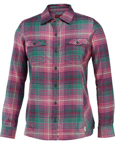 Wolverine Women's Autumn Long Sleeve Flannel Work Shirt, Kelly Green, hi-res
