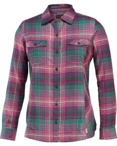 Wolverine Women's Autumn Long Sleeve Flannel Work Shirt, Kelly Green, hi-res