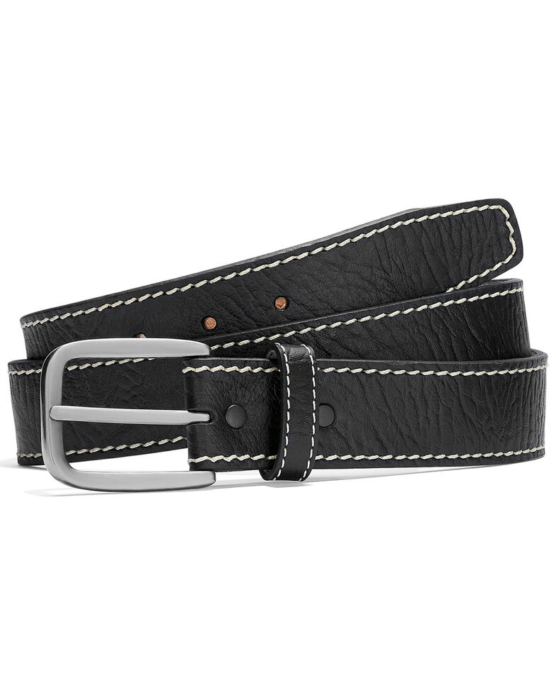 Leegin Men's Bison Boulevard Western Belt, Black, hi-res