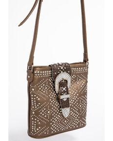 Shyanne Womens Bling Buckle Crossbody Bag Bronze Hi Res