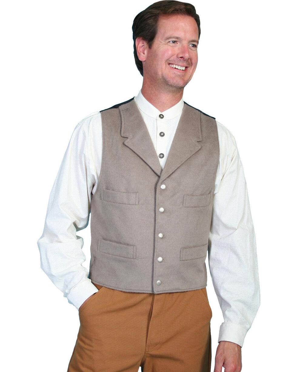 Wahmaker by Scully 4-Pocket Wool Vest, Lt Grey, hi-res