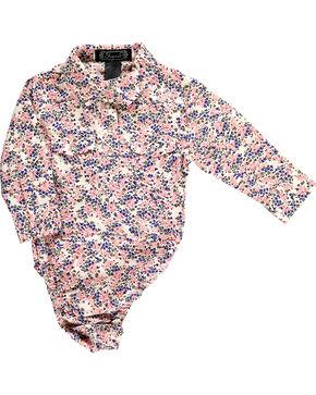 Shyanne Infant Girl's Ditsy Long Sleeve Western Onesie, Pink, hi-res