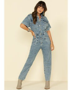 Free People Women's Blue Marci Jumpsuit , Blue, hi-res