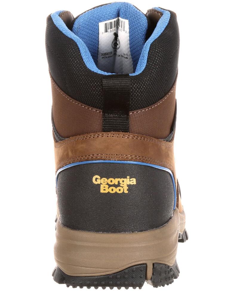 Georgia Boot Men's Blue Collar Waterproof Hiker Boots - Soft Toe, Dark Brown, hi-res