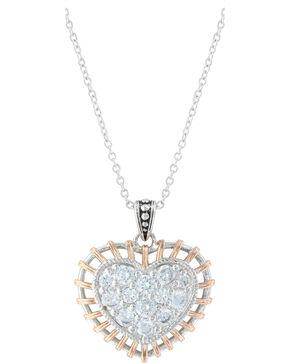 Montana Silversmiths Women's Woven Heart Necklace, Silver, hi-res