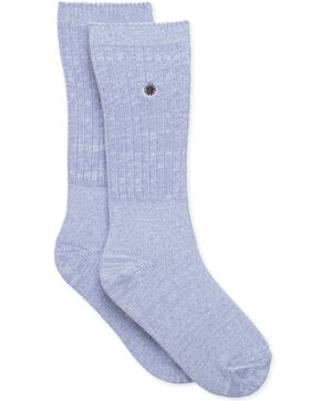 UGG Women's Icelandic Blue Rib Knit Slouchy Crew Socks , Blue, hi-res