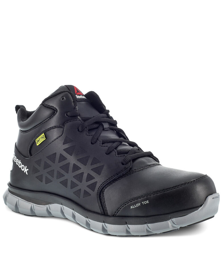Reebok Women's Black Sublite Met Guard Work Shoes - Alloy Toe, Black, hi-res