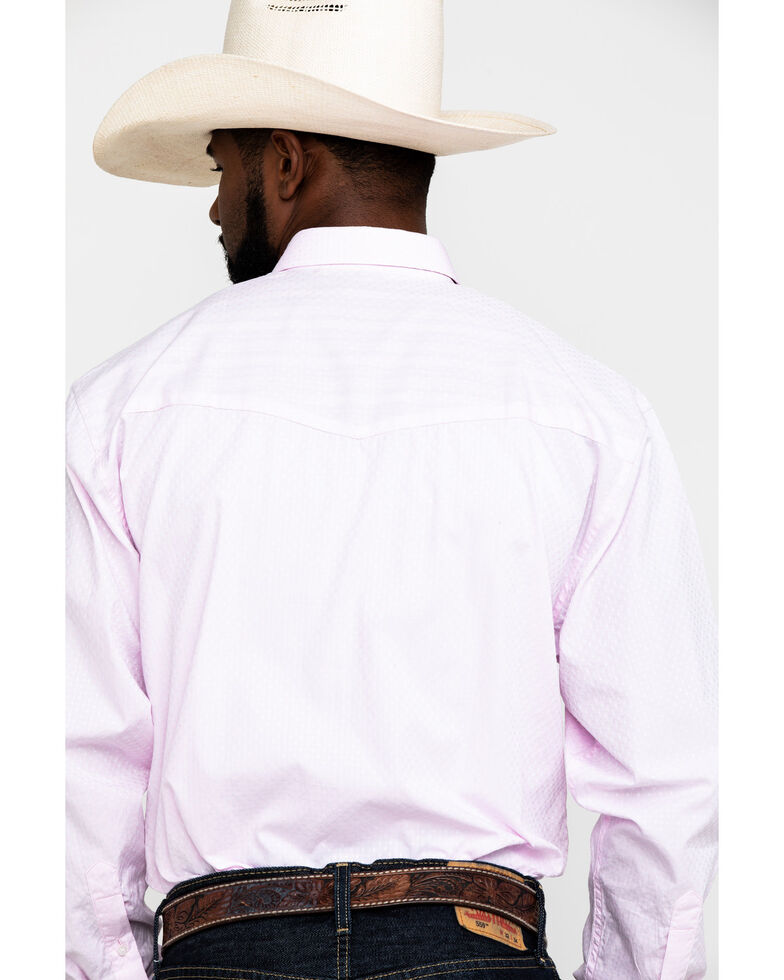 Resistol Men's Pink Casselberry Textured Solid Long Sleeve Western Shirt , , hi-res