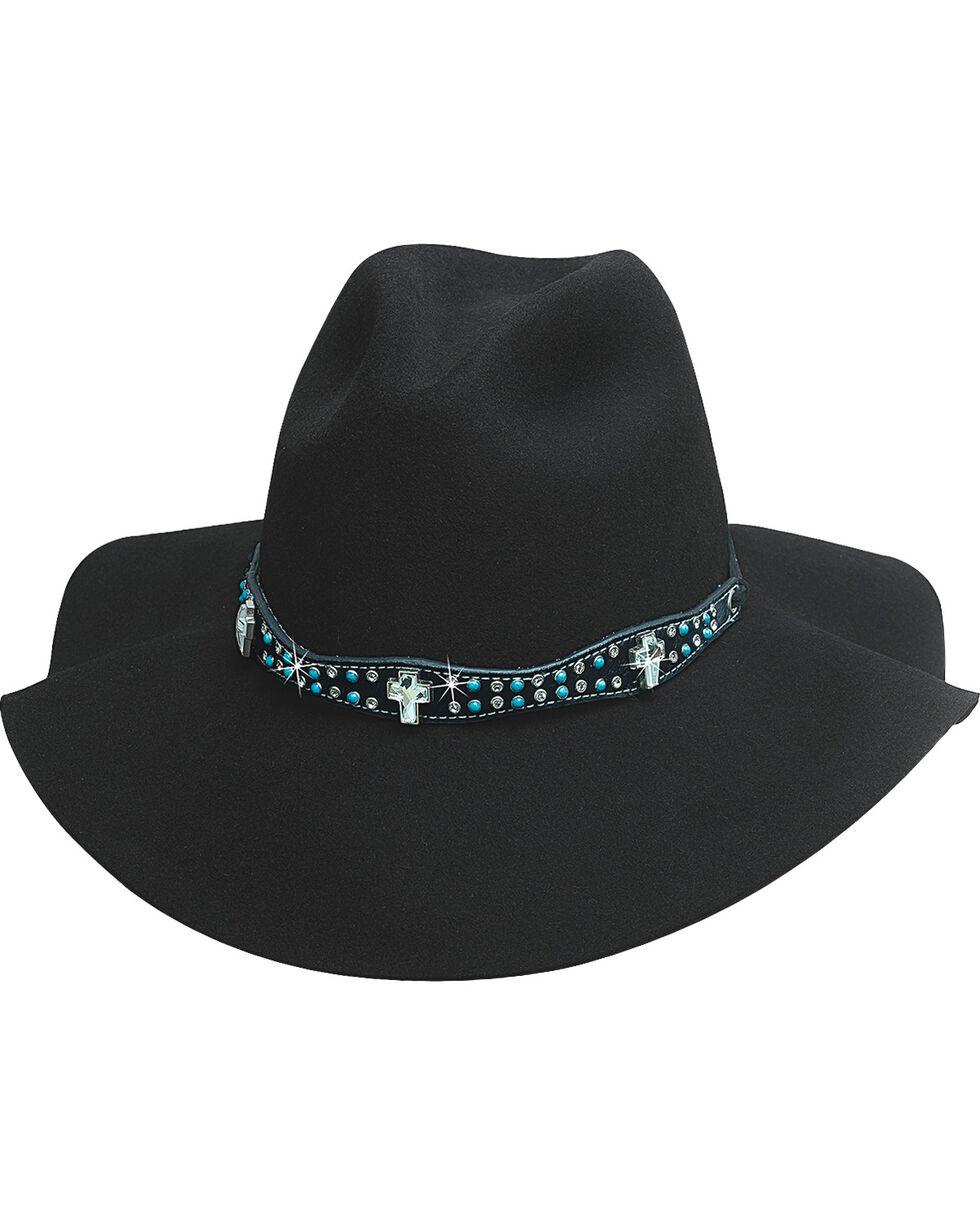 Bullhide Hats Women's Free People Wool Cowboy Hat , Black, hi-res