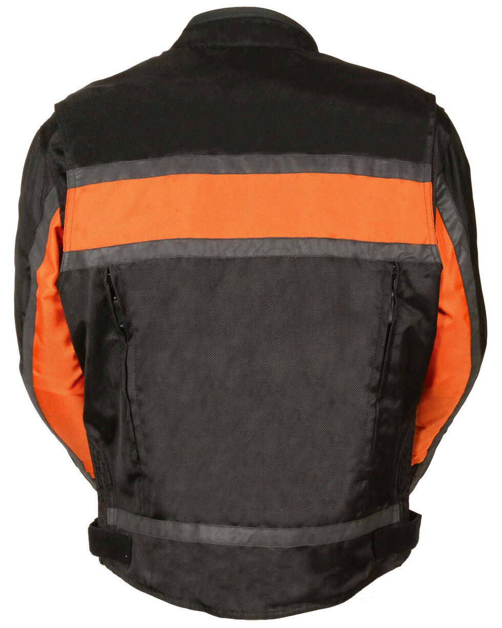 Milwaukee Leather Men's Reflective Stripe Racer Jacket - 5X, , hi-res