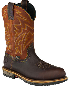 Red Wing Irish Setter Men's Waterproof Harvest Gold Marshall Work Boots - Steel Toe , Brown, hi-res