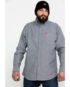 Ariat Men's Dark Navy FR Solid Durastretch Long Sleeve Work Shirt , Navy, hi-res