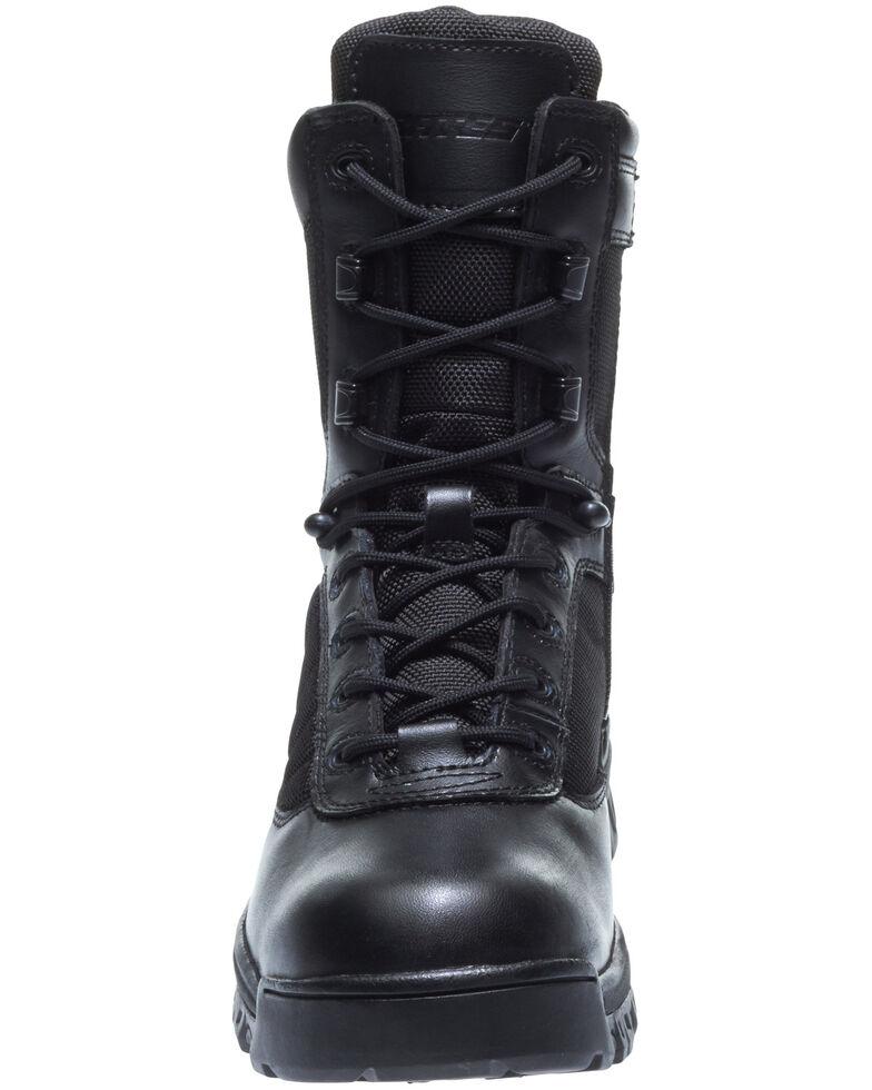 "Bates Women's 8"" Tactical Sport Side Zip Work Boots - Soft Toe, Black, hi-res"