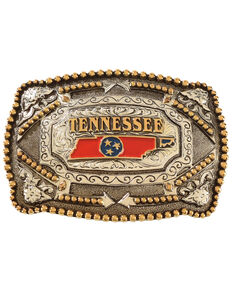 Cody James® Tennessee Flag Belt Buckle, Multi, hi-res