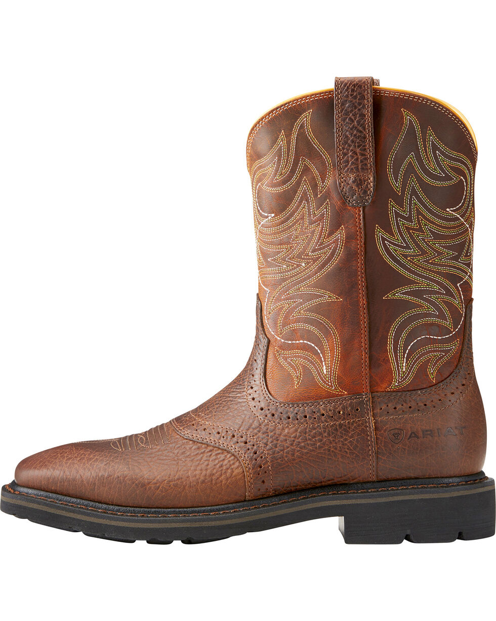 Ariat Men's Sierra Shadowland Steel Toe Work Boots, Brown, hi-res