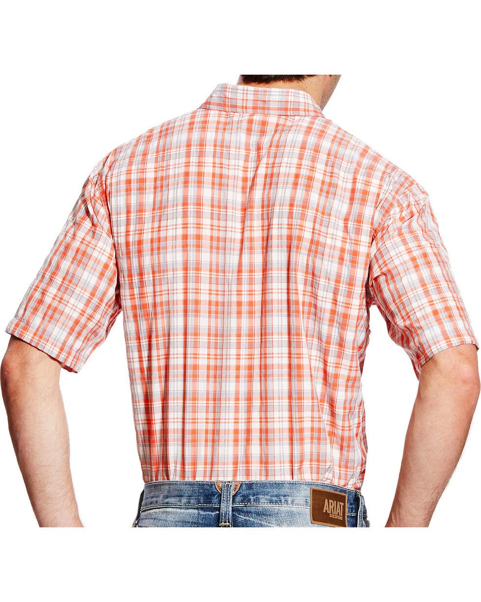 Ariat Men's Coral Plaid VentTEK II Shirt , Coral, hi-res