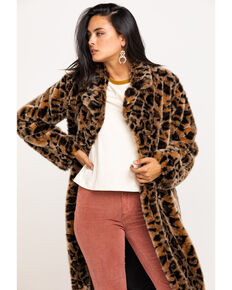 Johnny Was Women's Eeshal Leopard Coat, Leopard, hi-res