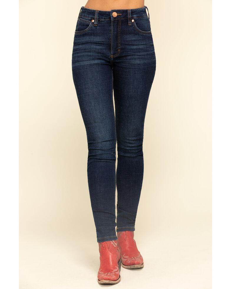 Wrangler Retro Women's Dark Devon Skinny Jeans, Blue, hi-res