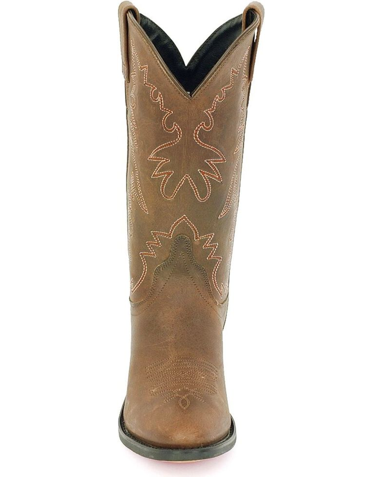 Old West Women's Distressed Leather Western Boots - Round Toe, Distressed, hi-res