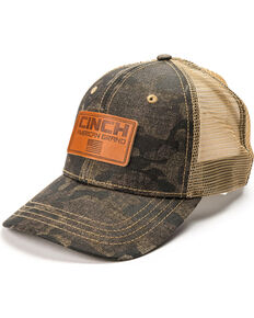 Cinch Men's Camo Patch Trucker Cap, Camouflage, hi-res