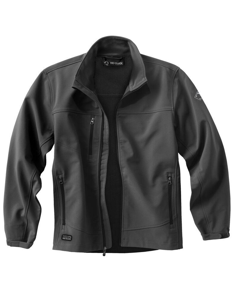 Dri Duck Men's Motion Softshell Work Jacket - Big & Tall, Charcoal Grey, hi-res
