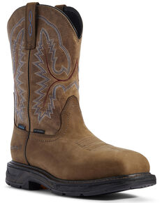 Ariat Men's Workhog XT Western Work Boots - Carbon Toe, Brown, hi-res