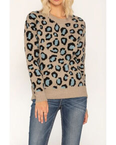 Miss Me Women's Oh La Leopard Sweater , Multi, hi-res