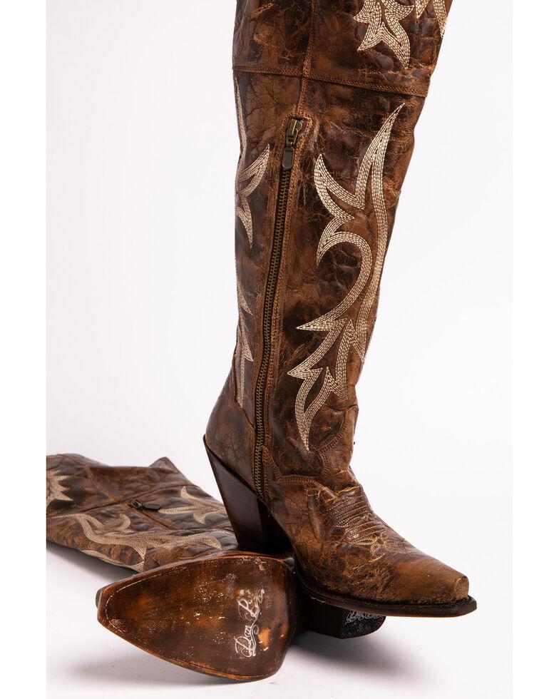 Dan Post Women's Jilted Knee High Western Boots, Chestnut, hi-res