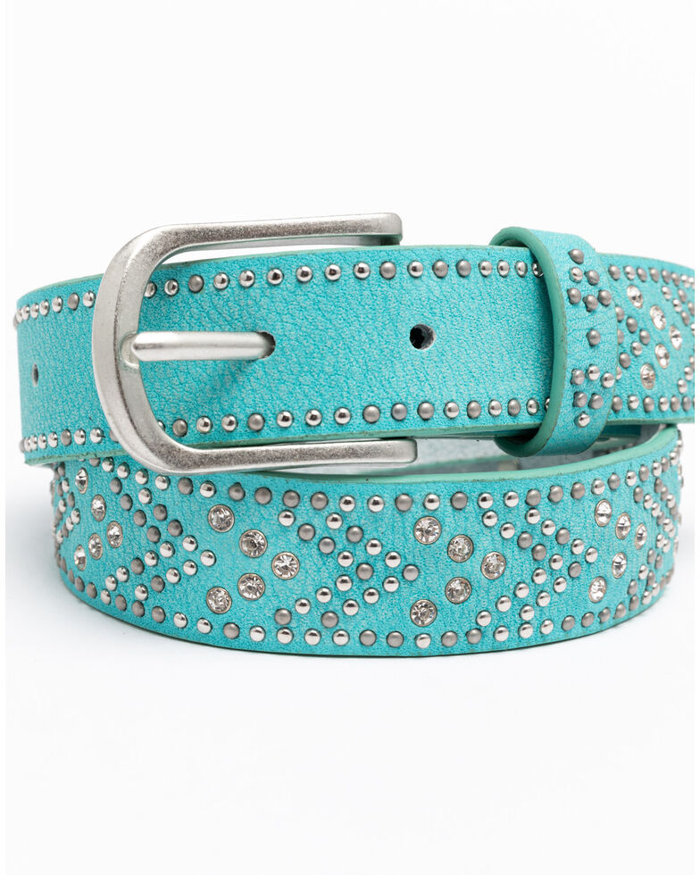 Shyanne Girls' Turquoise Tempt To Shine Belt, Turquoise, hi-res