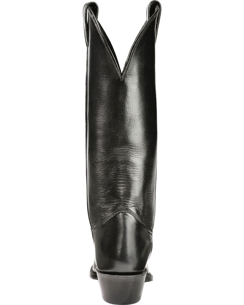 """Justin Women's """"Don't Mess With Texas"""" Calfskin Western Boots, Black, hi-res"""