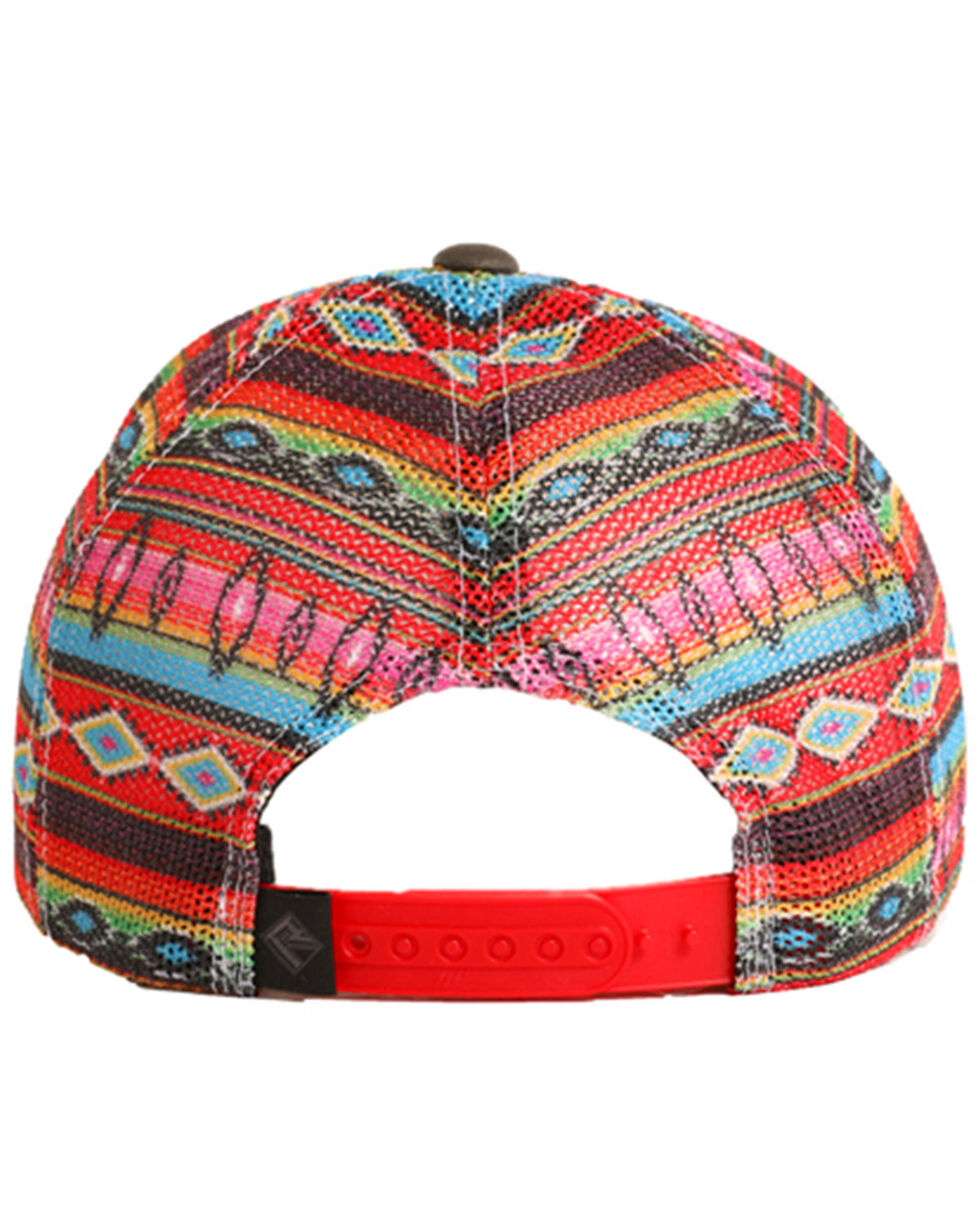 Rock & Roll Denim Men's Serape Printed Mesh Cap, Charcoal, hi-res