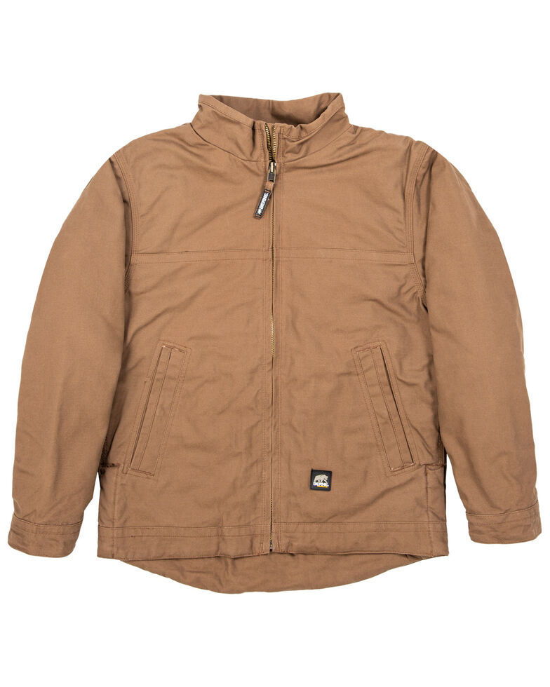 Berne Men's Brown Flagstone Duck Flannel Work Jacket , Brown, hi-res