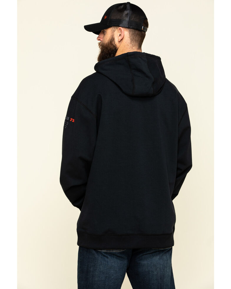 Cinch Men's FR Black Hooded Work Sweatshirt - Big , Black, hi-res