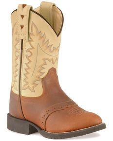 Jama Children's Comfort Wear Western Boots, Brown Multi, hi-res