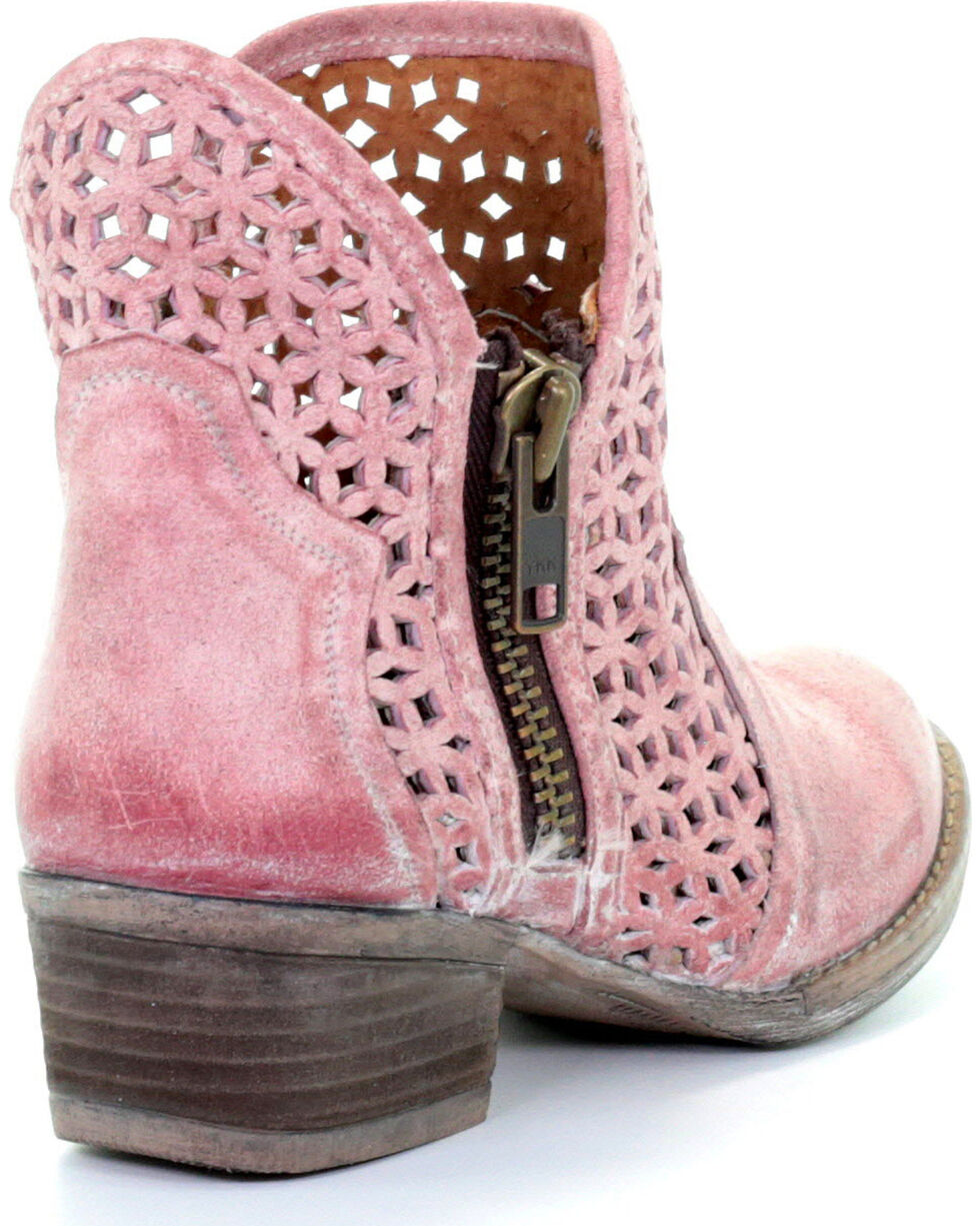 Circle G by Corral Women's Pink Cutout Booties - Round Toe , , hi-res