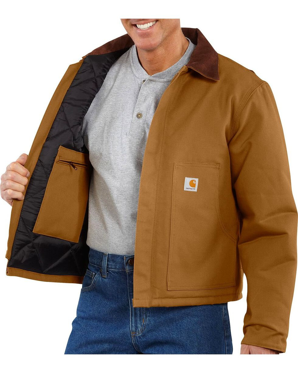 Carhartt Men's Duck Traditional Jacket, Carhartt Brown, hi-res